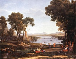 Claude Lorrain (Gellee) - Landscape with Dancing Figures