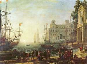 Claude Lorrain (Gellee) - Harbour with Villa Medici, 1637