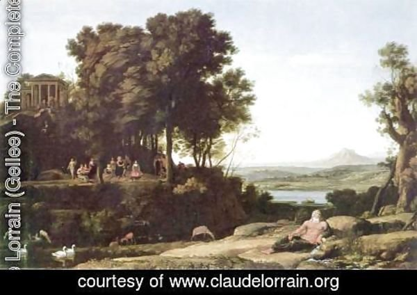 Claude Lorrain (Gellee) - Landscape with Apollo and the Muses, 1652