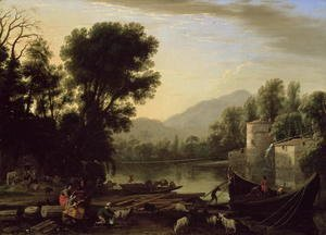 Claude Lorrain (Gellee) - Mill on a River, c.1631