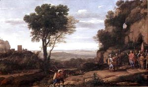 Claude Lorrain (Gellee) - Landscape with David at the Cave of Abdullam, 1658