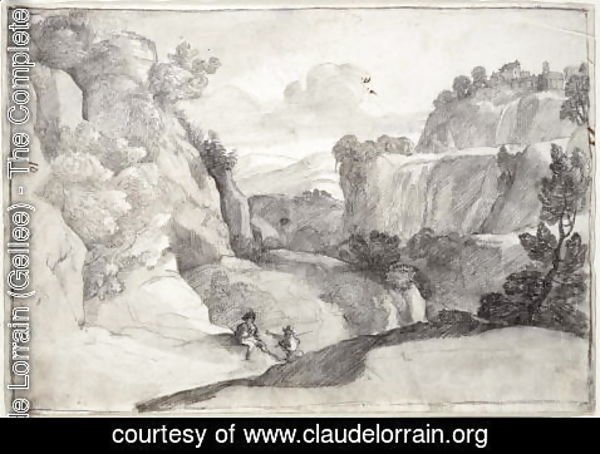 Claude Lorrain (Gellee) - The Cascades of Tivoli