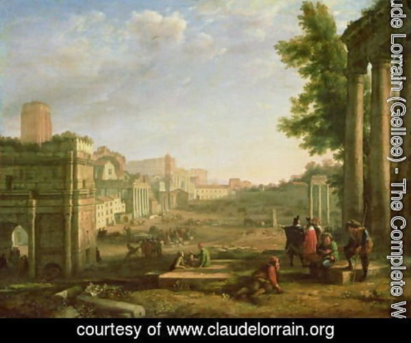 Claude Lorrain (Gellee) - View of the Campo Vaccino, Rome, 1636