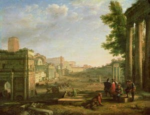 View of the Campo Vaccino, Rome, 1636