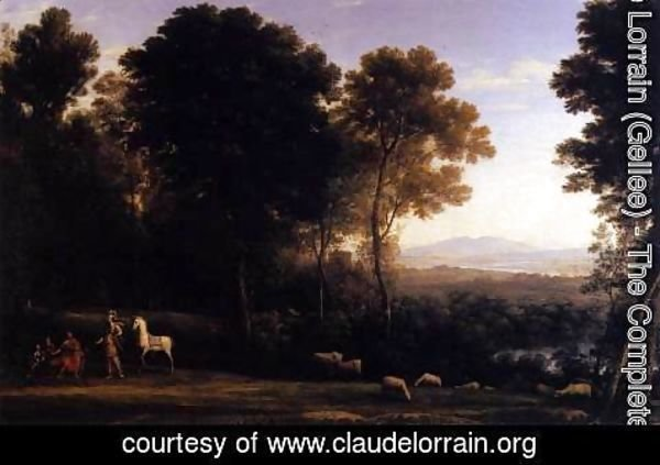 Claude Lorrain (Gellee) - Landscape with Erminia in Discourse with the Old Man and his Sons