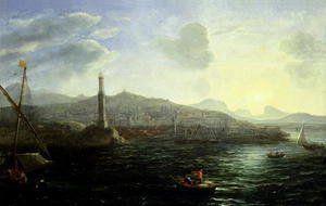 Claude Lorrain (Gellee) - The Port of Genoa, Sea View
