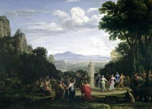 Claude Lorrain (Gellee) - The Adoration of the Golden Calf, 1660