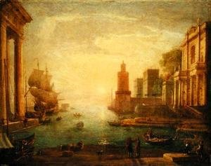 Claude Lorrain (Gellee) - The Grand Canal, Venice