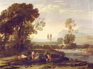Claude Lorrain (Gellee) - The Rest on the Flight into Egypt, 1635-6