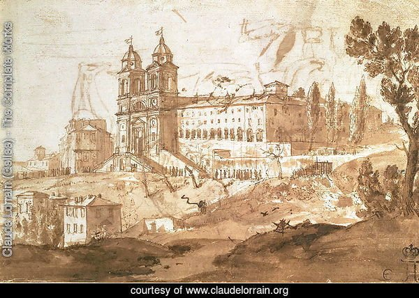 View of the Church of S. Trinita dei Monti, Rome, c.1632
