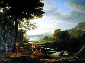 Claude Lorrain (Gellee) - Apollo flaying Marsyas