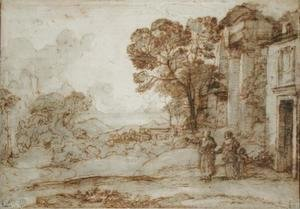 Claude Lorrain (Gellee) - Landscape with Abraham Expelling Hagar and Ishmael, c.1665-67