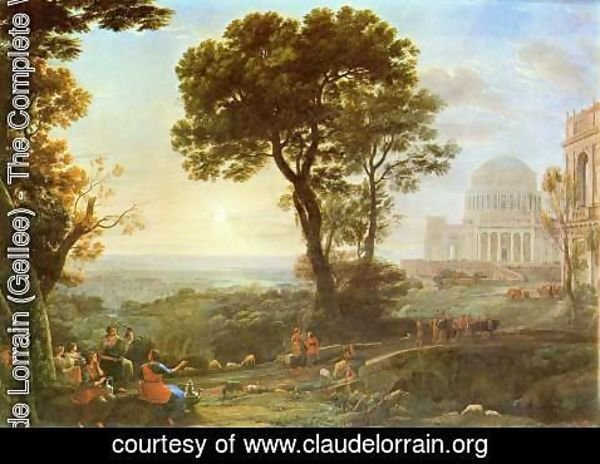 Claude Lorrain (Gellee) - Imaginary View of Delphi with a Procession