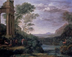 Claude Lorrain (Gellee) - Landscape with Figures