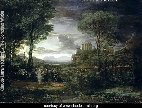 Landscape with Jacob Wrestling with the Angel, or Night, 1672