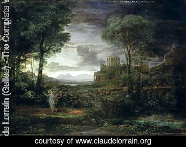 Claude Lorrain (Gellee) - Landscape with Jacob Wrestling with the Angel, or Night, 1672
