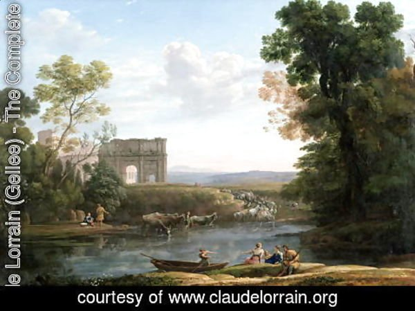 Claude Lorrain (Gellee) - Evening, 1651