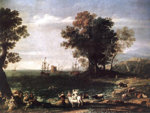 Claude Lorrain (Gellee) - The Rape of Europa, 1655