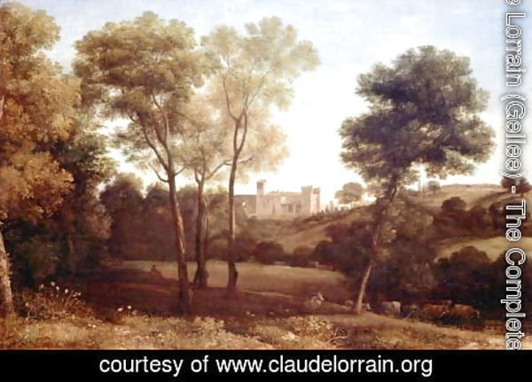 Claude Lorrain (Gellee) - Landscape with Castle