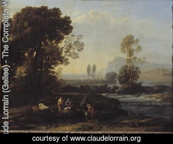 Claude Lorrain (Gellee) - Landscape with the Flight into Egypt, 1647