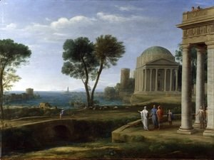Claude Lorrain (Gellee) - Landscape with Aeneas at Delos, 1672