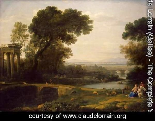 Claude Lorrain (Gellee) - The Rest on the Flight into Egypt