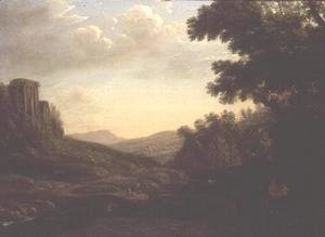 Claude Lorrain (Gellee) - Extensive Wooded Landscape with Ruined Temple