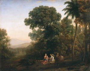 Claude Lorrain (Gellee) - Rest on the Flight into Egypt