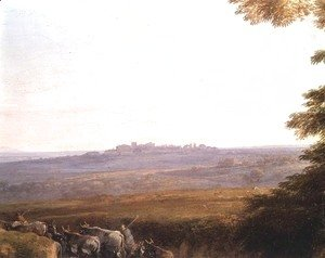 Claude Lorrain (Gellee) - Landscape with Cowherds