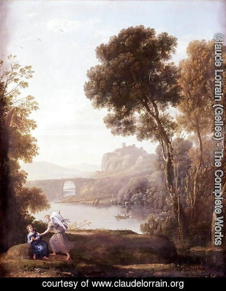 Claude Lorrain (Gellee) - Landscape with Hagar and the Angel, 1646