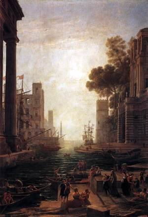 Claude Lorrain (Gellee) - Embarkation of St. Paula Romana at Ostia, 1637-39