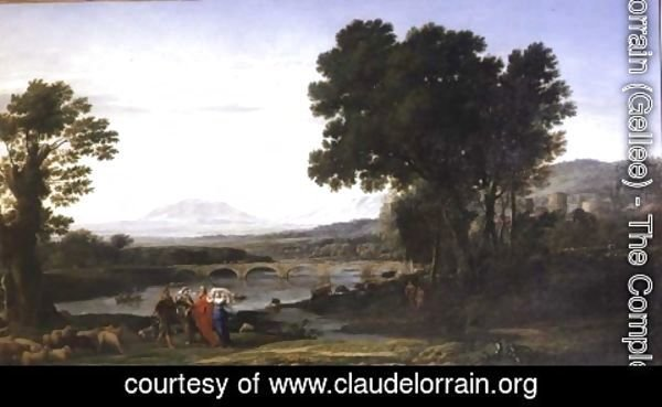 Claude Lorrain (Gellee) - Landscape with Jacob and Laban and Laban's Daughters, 1654