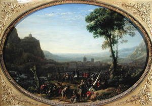 Claude Lorrain (Gellee) - The Pass of Susa Taken by Louis XIII in 1629