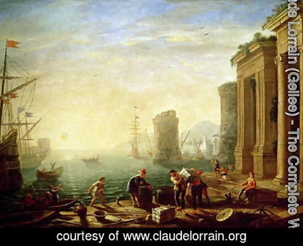 Claude Lorrain (Gellee) - Morning at the Port, 1640