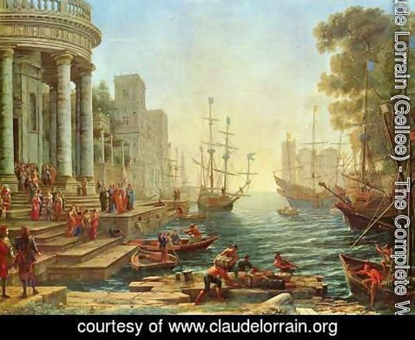 Claude Lorrain (Gellee) - Seaport with the Embarkation of St. Ursula