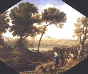 Pastoral landscape with a view of Lake Albano and Castel Gondolfo, 1639