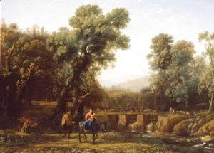 Claude Lorrain (Gellee) - The Flight into Egypt, c.1635