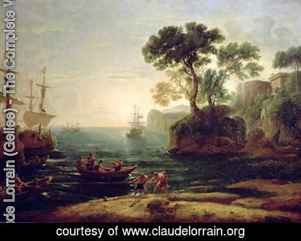 Claude Lorrain (Gellee) - Arrival of Aeneas in Italy, the Dawn of the Roman Empire