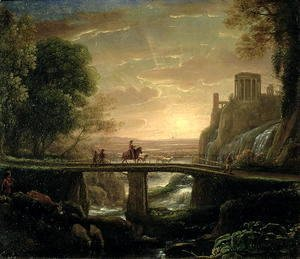 Claude Lorrain (Gellee) - Landscape with an Imaginary View of Tivoli, 1642