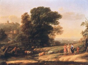 Claude Lorrain (Gellee) - Landscape with Cephalus and Procris Reunited by Diana, 1645