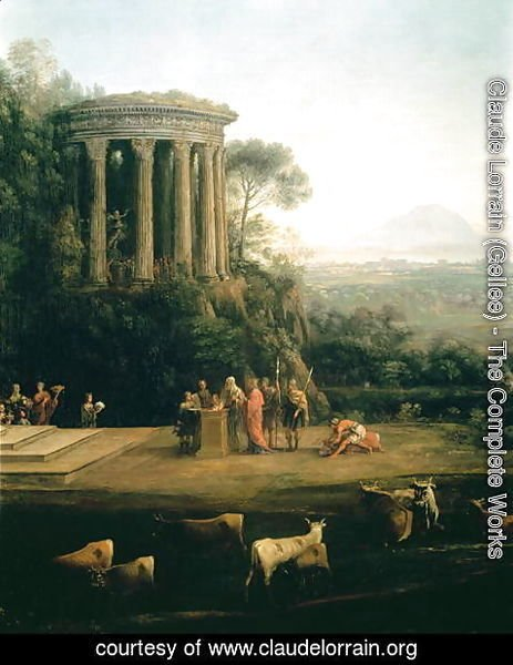 Claude Lorrain (Gellee) - Landscape with the Father of Psyche sacrificing to Apollo