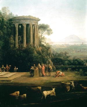 Landscape with the Father of Psyche sacrificing to Apollo