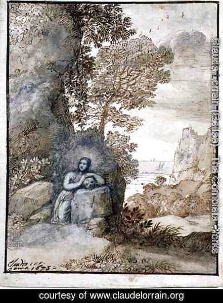 Claude Lorrain (Gellee) - Landscape with the Magdalene, 1675