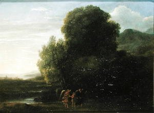 Claude Lorrain (Gellee) - Landscape with St John the Baptist