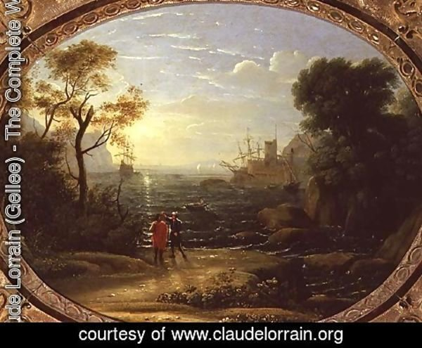 Claude Lorrain (Gellee) - Coastal Landscape at Sunset