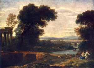 Claude Lorrain (Gellee) - Landscape with Shepherds