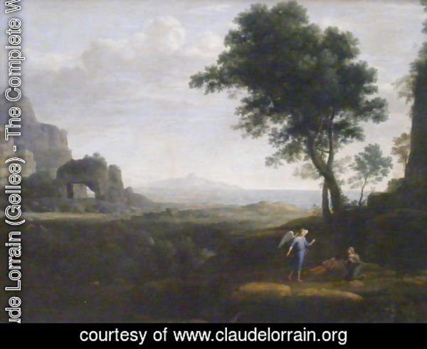 Claude Lorrain (Gellee) - Hagar and Ishmael in the Desert