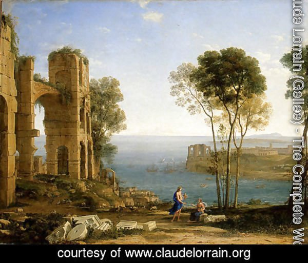 Claude Lorrain (Gellee) - Coast View with Apollo and the Cumaean Siby