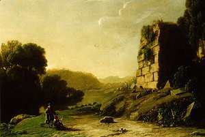 Landscape with a Draughtsman Sketching Ruins