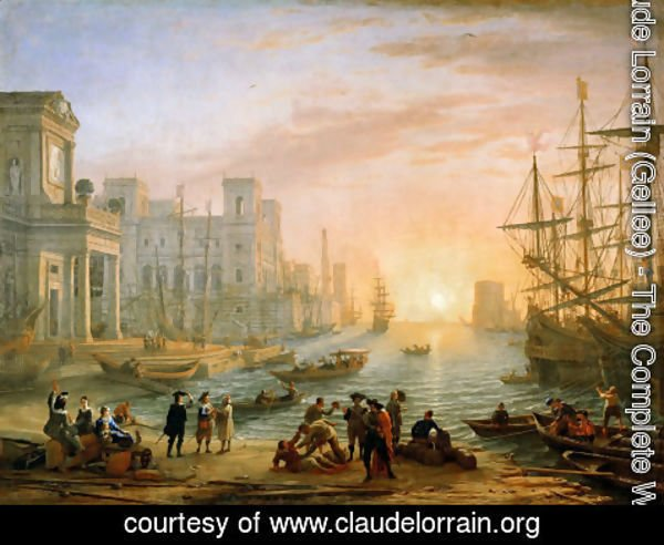 Claude Lorrain (Gellee) - Seaport at Sunset